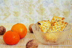 Apple και μπισκότα μαρμελάδας Στοκ φωτογραφίες με δικαίωμα ελεύθερης χρήσης