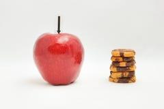 Apple και μπισκότο Στοκ εικόνα με δικαίωμα ελεύθερης χρήσης
