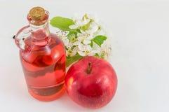 Apple και ξίδι μήλων που διακοσμείται με τα λουλούδια Στοκ φωτογραφία με δικαίωμα ελεύθερης χρήσης