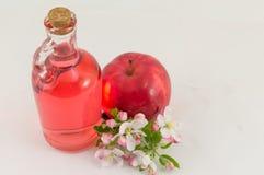 Apple και ξίδι μήλων που διακοσμείται με τα λουλούδια Στοκ φωτογραφίες με δικαίωμα ελεύθερης χρήσης