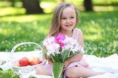 Apple και λουλούδια Στοκ Εικόνα