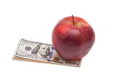 Apple και δολάρια Στοκ Εικόνες