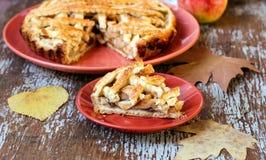 Apple και πίτα αχλαδιών Στοκ Εικόνα