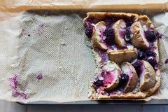 Apple και πίτα βατόμουρων Στοκ εικόνα με δικαίωμα ελεύθερης χρήσης