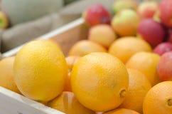 Apple και πορτοκάλι στο σωρό Στοκ Φωτογραφία