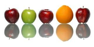 Apple και πορτοκάλι Στοκ Εικόνες