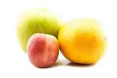 Apple και πορτοκάλι Στοκ Εικόνα