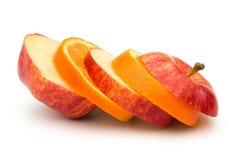 Apple και πορτοκαλιές φέτες Στοκ φωτογραφία με δικαίωμα ελεύθερης χρήσης