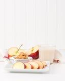 Apple και πορτρέτο φυστικοβουτύρου Στοκ Εικόνα