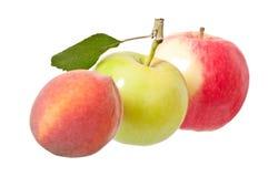 Apple και ροδάκινο Στοκ Φωτογραφίες