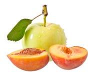 Apple και ροδάκινο Στοκ Εικόνα