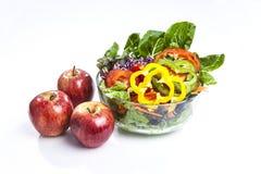 Apple και σαλάτα Στοκ φωτογραφία με δικαίωμα ελεύθερης χρήσης