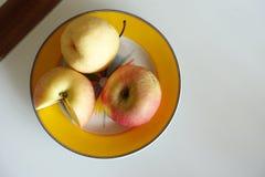 Apple και τοπ άποψη αχλαδιών Στοκ Φωτογραφίες