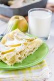 Apple και τυρί εξοχικών σπιτιών lasagne Στοκ φωτογραφία με δικαίωμα ελεύθερης χρήσης