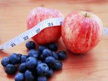 Apple και υγιές deit βακκινίων Στοκ Εικόνα