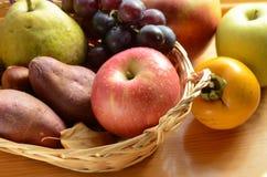 Apple και φρούτα φθινοπώρου σε ένα καλάθι Στοκ φωτογραφίες με δικαίωμα ελεύθερης χρήσης
