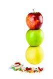 Apple και χάπια Στοκ Φωτογραφίες
