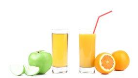 Apple και χυμός από πορτοκάλι Στοκ φωτογραφίες με δικαίωμα ελεύθερης χρήσης