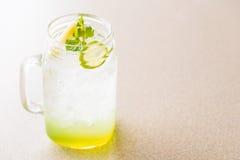 Apple και χυμός λεμονιών Στοκ Εικόνες