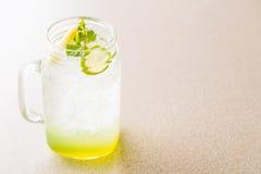 Apple και χυμός λεμονιών Στοκ Εικόνα