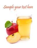 Apple και χυμός Στοκ Εικόνες