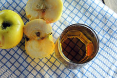 Apple και χυμός Στοκ Φωτογραφία