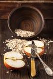 Apple και oatmeal Στοκ Εικόνα