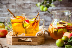 Apple και sangria εσπεριδοειδών Στοκ Εικόνες