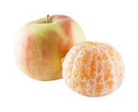 Apple και tangerine Στοκ φωτογραφίες με δικαίωμα ελεύθερης χρήσης