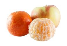 Apple και tangerine Στοκ Φωτογραφίες