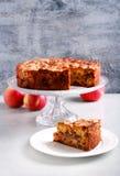 Apple, κανέλα, σταφίδα και κέικ καρυδιών Στοκ φωτογραφίες με δικαίωμα ελεύθερης χρήσης