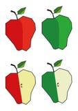 Apple - κόκκινο και πράσινος Στοκ εικόνα με δικαίωμα ελεύθερης χρήσης