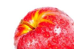 Apple, κόκκινο μήλο κινηματογραφήσεων σε πρώτο πλάνο Στοκ φωτογραφία με δικαίωμα ελεύθερης χρήσης