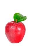 Apple, κόκκινο μήλο που απομονώνεται στο άσπρο υπόβαθρο με το ψαλίδισμα της πορείας Στοκ φωτογραφίες με δικαίωμα ελεύθερης χρήσης