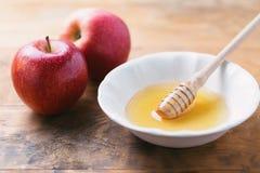 Apple & μέλι Στοκ Εικόνα