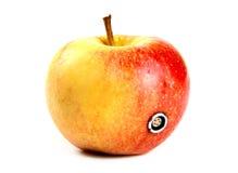 Apple με έναν συνδετήρα καρφιτσών 5 Στοκ εικόνα με δικαίωμα ελεύθερης χρήσης