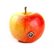 Apple με έναν συνδετήρα Στοκ φωτογραφίες με δικαίωμα ελεύθερης χρήσης