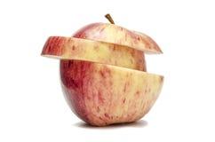 Apple με μια περικοπή στη μέση Στοκ Φωτογραφία