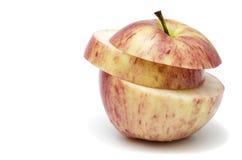 Apple με μια περικοπή στη μέση Στοκ φωτογραφία με δικαίωμα ελεύθερης χρήσης