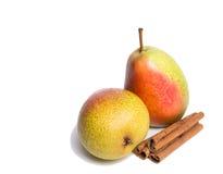 Apple με τα αχλάδια και την κανέλα Στοκ φωτογραφία με δικαίωμα ελεύθερης χρήσης