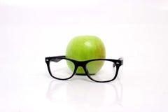 Apple με τα γυαλιά Στοκ φωτογραφίες με δικαίωμα ελεύθερης χρήσης