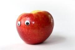 Apple με τα μάτια google Στοκ Εικόνα