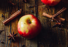 Apple με το αστέρι γαρίφαλων, κανέλας και γλυκάνισου Στοκ φωτογραφίες με δικαίωμα ελεύθερης χρήσης