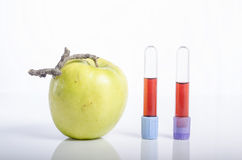 Apple με το δείγμα αίματος ως έννοια της υγιούς ζωής Στοκ Φωτογραφία