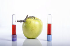 Apple με το δείγμα αίματος ως έννοια της υγιούς ζωής Στοκ εικόνες με δικαίωμα ελεύθερης χρήσης