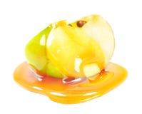 Apple με το μέλι Στοκ φωτογραφία με δικαίωμα ελεύθερης χρήσης