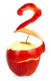 Apple με το ξεφλουδισμένο δέρμα Στοκ εικόνα με δικαίωμα ελεύθερης χρήσης