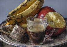 Apple, μπανάνα, πορτοκαλί πιάτο φρούτων Στοκ εικόνες με δικαίωμα ελεύθερης χρήσης