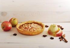 Apple ξινή με την κανέλα και τα μήλα Στοκ Εικόνες