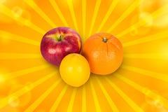 Apple, πορτοκάλι και λεμόνι Στοκ Εικόνα